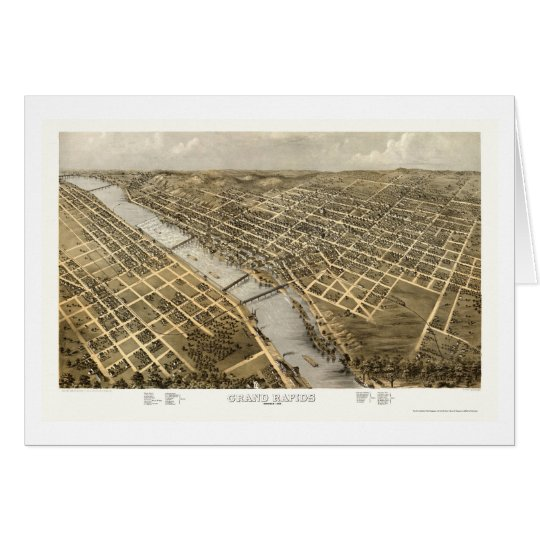 Grand Rapids, MI Panoramic Map - 1868 Card