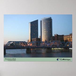 Grand Rapids, Michigan at Dusk Poster