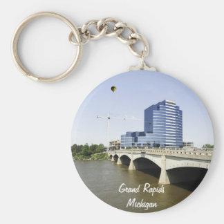 Grand Rapids Michigan Basic Round Button Keychain