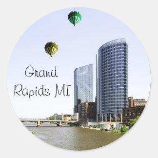 Grand Rapids Michigan Classic Round Sticker