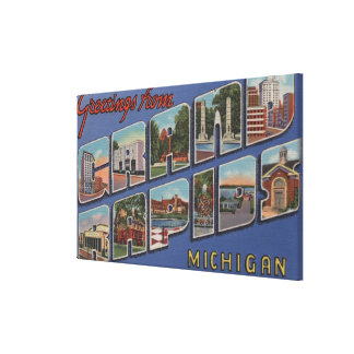 Grand Rapids, Michigan - Large Letter Scenes 2 Canvas Print