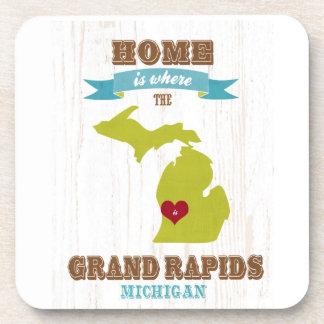 grand rapids, michigan Map – Home Is Where Coaster