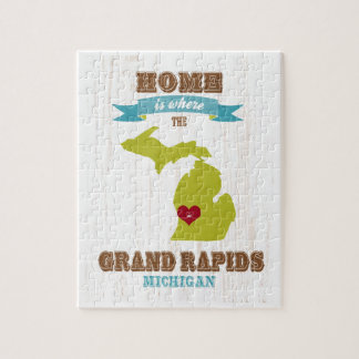 grand rapids, michigan Map – Home Is Where Jigsaw Puzzle