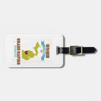 grand rapids, michigan Map – Home Is Where Luggage Tags