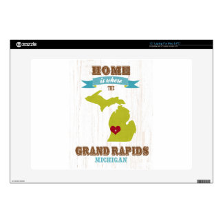 "grand rapids, michigan Map – Home Is Where Skin For 15"" Laptop"