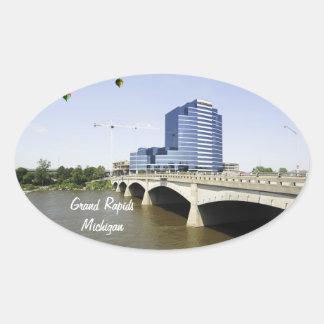 Grand Rapids Michigan Oval Sticker