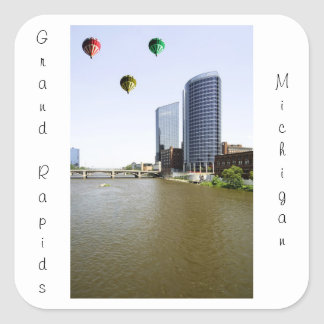 Grand Rapids Michigan Pegatina Cuadrada
