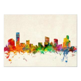 Grand Rapids Michigan Skyline Cityscape 13 Cm X 18 Cm Invitation Card
