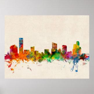 Grand Rapids Michigan Skyline Cityscape Poster