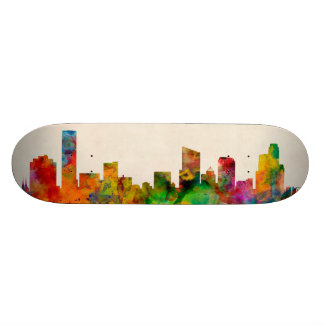 Grand Rapids Michigan Skyline Cityscape Skateboard