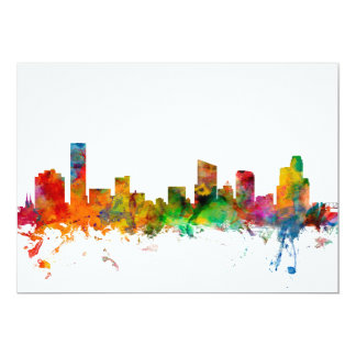 Grand Rapids Michigan Skyline 13 Cm X 18 Cm Invitation Card
