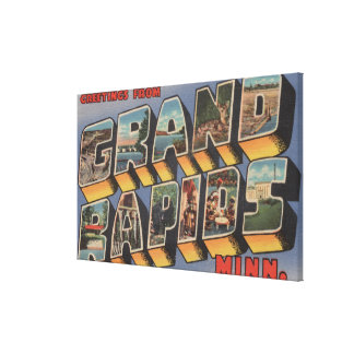 Grand Rapids, Minnesota - Large Letter Scenes Canvas Print
