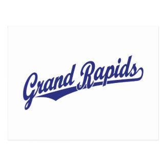 Grand Rapids script logo Postcard
