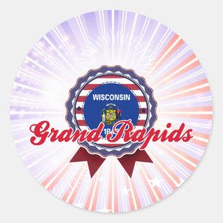 Grand Rapids, WI Pegatina Redonda