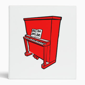 grand red upright piano with music.png 3 ring binder