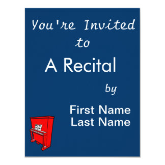 grand red upright piano with music.png 4.25x5.5 paper invitation card