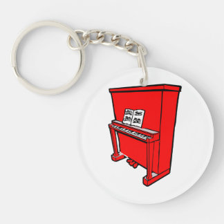 grand red upright piano with music.png keychain