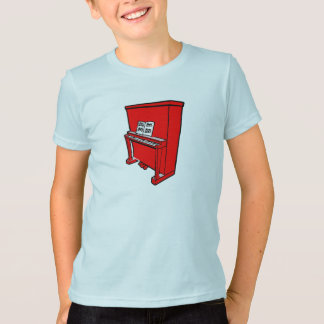 grand red upright piano with music.png T-Shirt