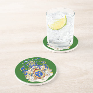 Grand Royal Coat of Arms of France Sandstone Coaster