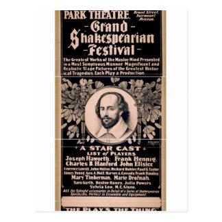 Grand Shakespearian Festival Postcard