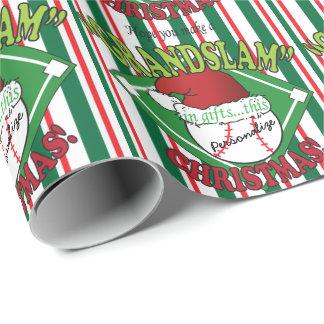 Grand Slam Baseball Christmas | DIY Name Wrapping Paper