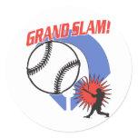 Grand Slam Baseball Classic Round Sticker