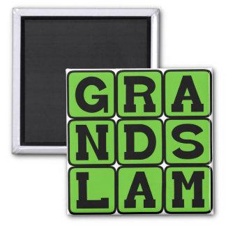 Grand Slam, Baseball Home Run Fridge Magnet