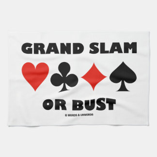 Grand Slam Or Bust (Bridge Card Suits) Towel
