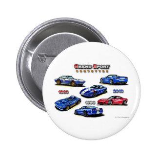 Grand Sport Corvettes 1963, 1996, 2010 Pins