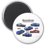 Grand Sport Corvettes 1963, 1996, 2010 Fridge Magnet