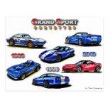 Grand Sport Corvettes 1963, 1996, 2010 Postcard