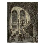 Grand stair case Paris Opera House 1877 Post Card