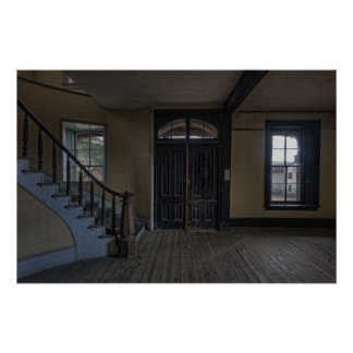 GRAND STAIRCASE and ENTRANCE to MEADE HOTEL Print