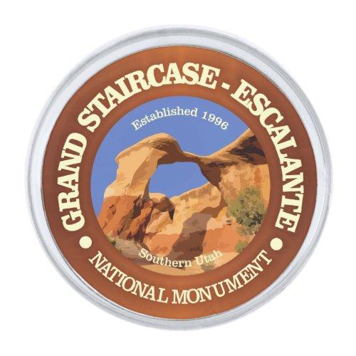 Grand Staircase - Escalante National Monument Silver Finish Lapel Pin