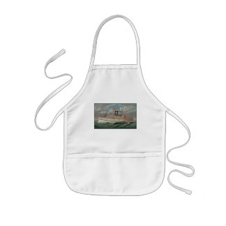 Grand Steamboat the Pilgrim on Ocean View Waves Kids' Apron