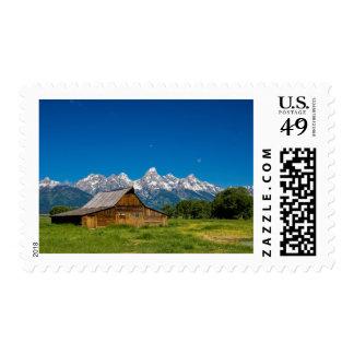 Grand Teton Barn Postage Stamps
