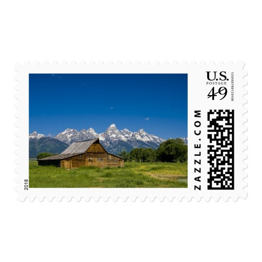 Grand Teton Barn Postage