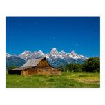 Grand Teton Barn Postcard