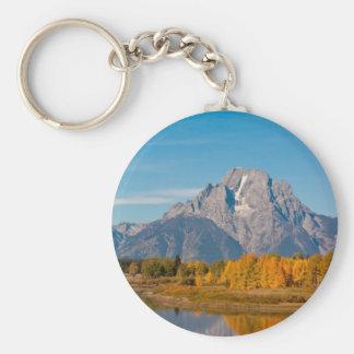 Grand Teton Basic Round Button Keychain