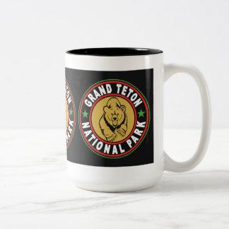 Grand Teton Black Circle Two-Tone Coffee Mug