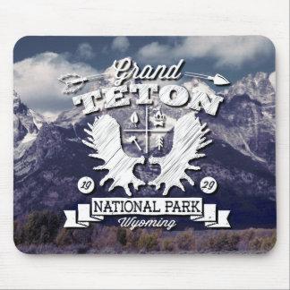 Grand Teton Camper Logo Mouse Pad