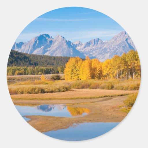 Grand Teton Classic Round Sticker