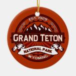 Grand Teton Crimson Christmas Ornament