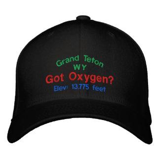 Grand Teton Got Oxygen? Embroidered Cap