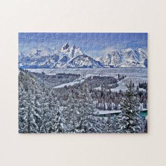 Grand Teton In the Winter Jigsaw Puzzle