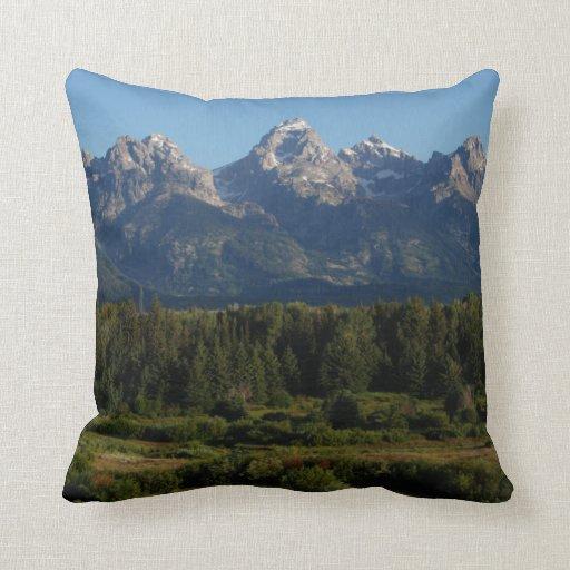 Grand Teton In Utah Pillows