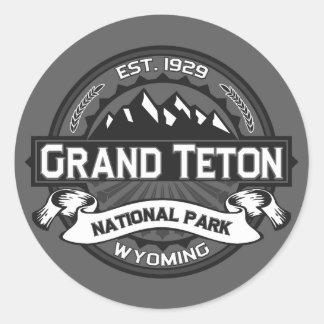 Grand Teton Logo Ansel Adams Classic Round Sticker