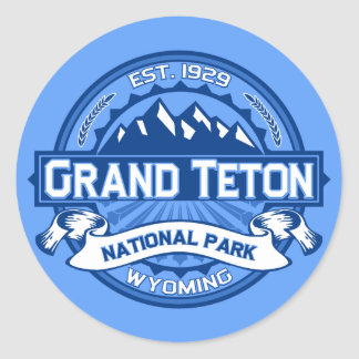 Grand Teton Logo Cobalt Classic Round Sticker