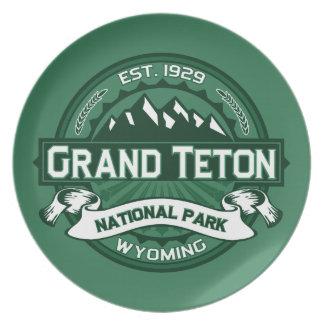 Grand Teton Logo Forest Party Plates