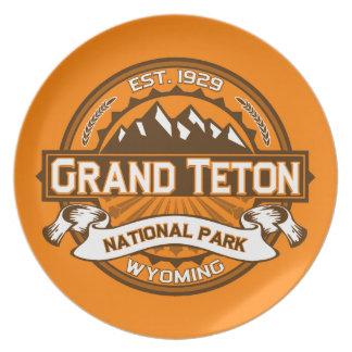 Grand Teton Logo Pumpkin Dinner Plates